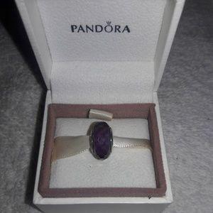 💜Pandora Purple Murano charm